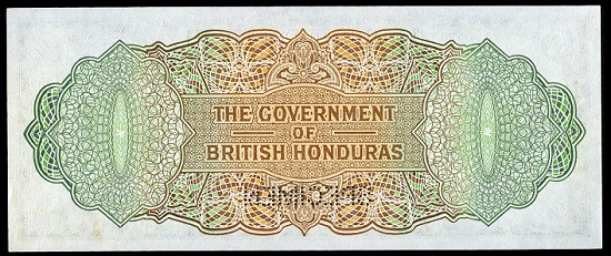 Lot 346: World Banknotes, British Honduras, Government, Ten Dollars, 1 January 1958, F/1 000000, perforated specimen, Vickers-Oates-Melhado signatures, notations in top margin (Pick 31as). About uncirculated to uncirculated. GBP 240-300.