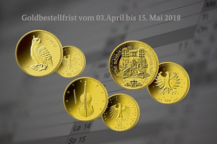 Diese drei Goldmünzen können ab 3. April bei der VfS bestellt werden.