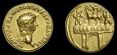 Lot 19: Roman Imperial Coins. Claudius (41-54), Aureus, Rome, 46-7. About very fine, rare. GBP 3,000-4,000.