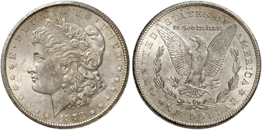Morgan Dollars are not really rare, but the certification number made the stolen pieces unique and easily identifiable. From Künker Sale 274 (March 15, 2016), No. 3508.