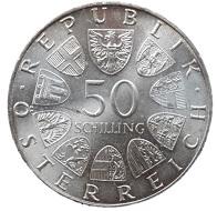 """Eines von Rudolf Schmidts bekannten Werken ist die 50-Schilling-Münze """"Theodor Körner""""."""