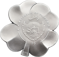 Palau / 5 Dollars / 1 oz. Silver .999 / 38.61 mm / Mintage: 2500 pcs.