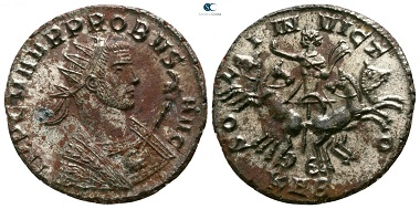 Lot 1316: Probus, 276-282. Antoninianus, Serdica. Good very fine.