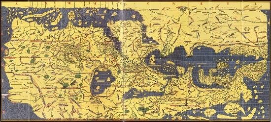 Tabula Rogeriana by Al Idrisi, 1154. Bibliothèque nationale de France.