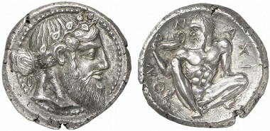 Nomos 1, 2009, 25. Naxos, Sicily, from the Randazzo Hoard of 1980. Est. 400,000 / Hammer 775,000.