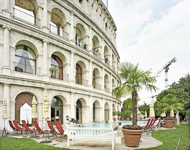 Hotel Colosseo, Europa-Park, Rust, Deutschland, 2011. Foto: © A. Seiland.