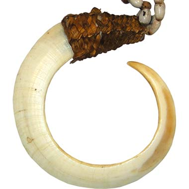 Papua New Guinea / Vanuatu, bent boar tusk. From the Kuhn Collection. Photo: MoneyMuseum Zurich.