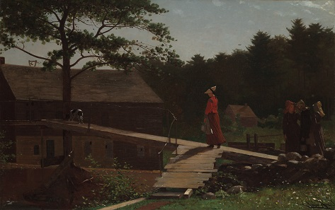 Old Mill (The Morning Bell) by Winslow Homer. Oil on canvas, 1871. Yale University Art Gallery, New Haven, Connecticut; bequest of Stephen Carlton Clark, B.A. 1903.