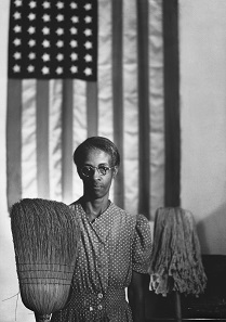 Washington, D.C. Government charwoman (American Gothic) by Gordon Parks. Gelatin silver print, 1942 (printed later). National Gallery of Art, Washington, D.C.;Corcoran Collection (The Gordon Parks Collection) Courtesy of and © The Gordon Parks Foundation.