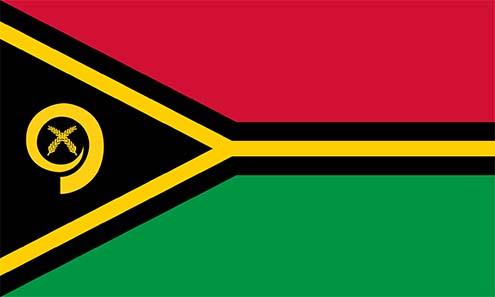 Flag of Vanuatu. Source: Wikipedia.