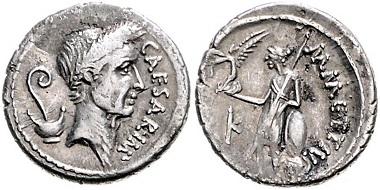 Los 316: Römische Republik. Julius Caesar, 59-44 v. Chr. Denar, 44 v. Chr. Schätzpreis: 1.800 Euro.