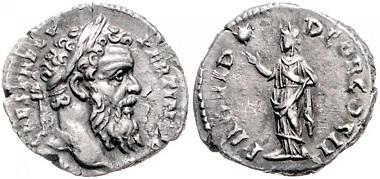 Los 574: Römisches Reich. Pertinax, 193. Denar, Rom. Schätzpreis: 1.850 Euro.