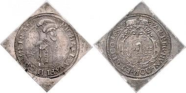 Los 1975: Siebenbürgen. Michael Apafi. 1661-1690. Dreifache Taler-Klippe 1668. AF. Schätzpreis: 8.000 Euro.