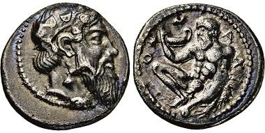 Los 36: Sizilien. Naxos. Drachme. 461-430 v. Chr. Taxe: 10.000 Euro.