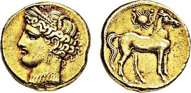 Los 459: Zeugitania. Karthago. Elektron-1 1/2-Stater. 255-241 v. Chr. Taxe: 6.500 Euro.