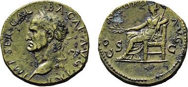 Los 559: Römisches Kaiserreich. Galba. 68-69 n. Chr. Sesterz. Taxe: 4.500 Euro.