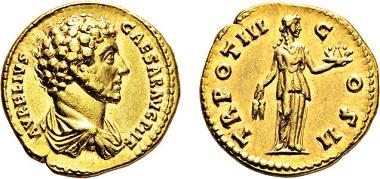 Los 651: Römisches Kaiserreich. Marcus Aurelius. 161-180 n. Chr. Aureus. Taxe: 10.000 Euro.