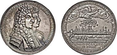 Los 2047: Kurfürstentum Bayern. Maximilian II. Emanuel, 1. Regierung, 1679-1705. Medaille 1685. Taxe: 2.500 Euro.