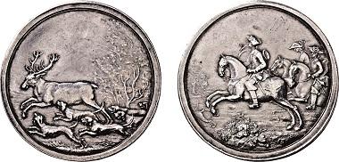 Los 3396: Landgrafschaft Hessen-Darmstadt. Ludwig VIII. 1739-1768. Jagdtaler 1751. Taxe: 5.250 Euro.