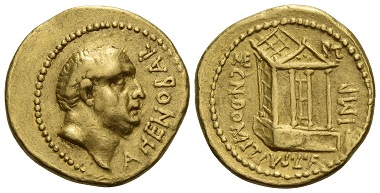 Los 519: Cn. Domitius Ahenobarbus. Aureus, 41 v. Chr. umherziehende Münzstätte. Fast vorzüglich / vorzüglich. Schätzung: 350.000 CHF.