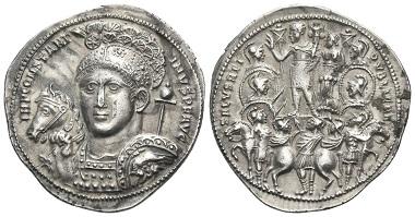 Los 1049: Konstantin I., 307-337. Aureus, circa 315-316, Heraclea. Fast Stempelglanz. Schätzung: 15.000 CHF.