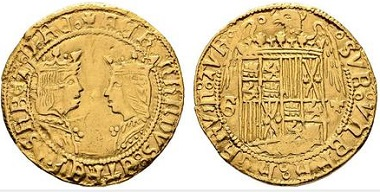 Lot 2002: Granada. Doble excelente, 1497. Very fine / nearly very fine+. Starting price: 1,050 euros.