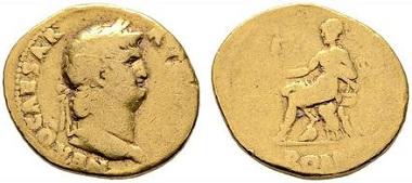 Lot 2068: Roman Empire. Nero. Aureus, 68. Very good-. Starting price: 750 euros.