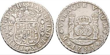 Lot 2140: Mexico. Fernando VI. 8 reales, 1753. Very fine. Starting price: 120 euros.