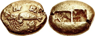 Lot 194: Ionia. Phokaia. Electron stater, circa 625/0-522 BC. Only the third known of this type. Estimate: $30,000.