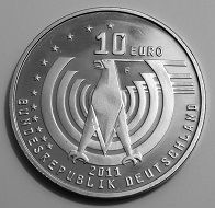 """The 2011 German circulating commemorative coin """"125 Years of the Automobile"""" without silver – a real slow-seller. Photo: Stphn / BY-CC 4.0."""