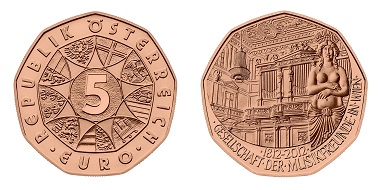 The 2011 Austrian copper coin was a complete success. Photo: Austrian Mint.
