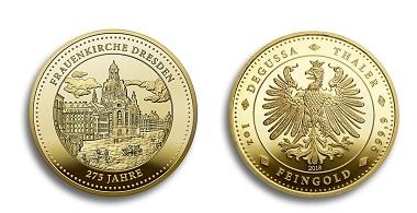 Der goldene Thaler aus einer Unze Feingold ist auf 200 Exemplare limitiert. Foto: Degussa Goldhandel GmbH