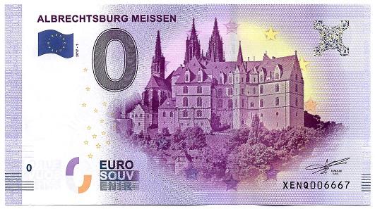 Mein erster 0-Euro-Schein mit der Albrechtsburg Meissen. Foto: Angela Graff.