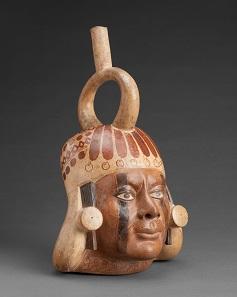 Moche portrait vessel, Peru, A.D. 400-650. Museo Larco, Lima. Photo: Juan Pablo Murrugarra Villanueva.