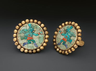 Moche ear ornaments showing winged runners, Peru, A.D. 400-700. The Metropolitan Museum of Art, New York. Image: The Metropolitan Museum of Art.
