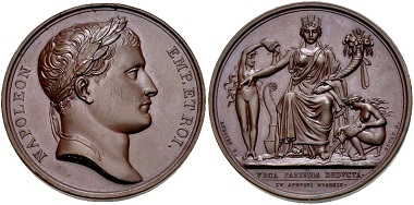 Lot 512: France, Premier Empire. Napoléon I., 1804-1814. Medal on the Opening of the Canal de l'Ourcq by B. Andrieu. Dated 1809. EF. Estimate: $150.