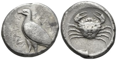 Lot 32: Sicily, Agrigentum. Tetradrachm, circa 475-472 or later. From a collection formed in the '30s. Marginal area of corrosion on obverse, otherwise Good Very Fine. Starting Bid: 300 GBP.