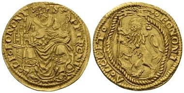Lot 694: Signoria di Bologna. Giovanni II Bentivoglio. Emissioni autonome. Doppio Bolognino, 1446-1506. About Extremely Fine/Good Very Fine. Starting Bid: 750 GBP.