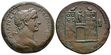 Lot 332: Roman Provincial. Egypt, Alexandria. Trajan, 98-117. Drachm, circa 108-109 (year 12). Extremely rare and probably the best specimen known. About Extremely Fine. From the Dattari collection. Starting Bid: 400 GBP.