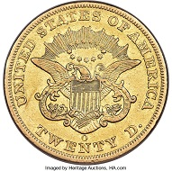 1856-O Liberty Double Eagle, XF Details. Rarest New Orleans Mint Twenty. Newly Discovered Example.