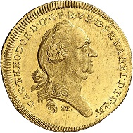 No. 1151. Bavaria. Charles Theodore, 1777-1799. Danube-gold-ducat 1793. Extremely rare. Extremely rare to FDC. Estimate: 20,000 euros.