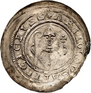 No. 1356. Mainz. Arnold of Selenhofen, 1153-1160. Bracteat, Erfurt. Extremely rare. Almost extremely fine. Estimate: 3,500 euros.