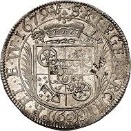 Nr. 1372. Mainz. Karl Heinrich von Metternich-Winneburg. Sortengulden zu 60 Kreuzer 1679. Äußerst selten. Fast Stempelglanz. Taxe: 7.000 Euro.