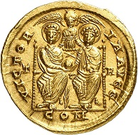 No. 1415: Eugenius, 392-394. Solidus, Treveri. Very rare. Extremely fine +. Estimate: 30,000 euros. Hammer price: 65,000 euros.