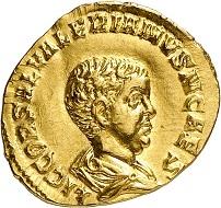 Nr. 1308: Saloninus als Caesar, 258-260. Aureus. Äußerst selten. Fast vorzüglich / Sehr schön. Taxe: 75.000,- Euro. Zuschlag: 110.000,- Euro.