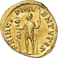 No. 1308: Saloninus as Caesar, 258-260. Aureus. Extremely rare. Almost extremely fine / Very fine. Estimate: 75,000 euros. Hammer price: 110,000 euro.