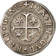 Nr. 2133: Genua / Italien. Scudo stretto, 1637, Genua. Sehr selten. Gutes sehr schön. Taxe: 300,- Euro. Zuschlag: 9.000,- Euro.