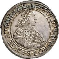 Nr. 2684: RDR. Leopold I., 1657-1705. Reichstaler, 1667, Nagybanya. Sehr selten. Fast Stempelglanz.. Taxe: 4.000,- Euro. Zuschlag: 10.000,- Euro.