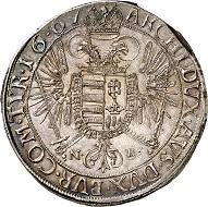 No. 2684: Holy Roman Empire. Leopold I, 1657-1705. Reichstaler, 1667, Nagybanya. Very rare. Nearly FDC. Estimate: 4,000 euros. Hammer price: 10,000 euros.