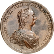 No. 2780: Holy Roman Empire. Maria Theresa, 1740-1780. Bronze medal by G. Toda no date. Price medal for achievements in the art of coinage. Rare. Stained. Extremely fine. Estimate: 150 euros. Hammer price: 2.400 euros.